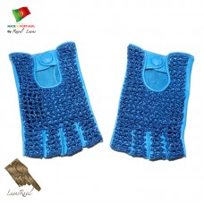 Handmade Leather Gloves With Crochet  (FCP2014)