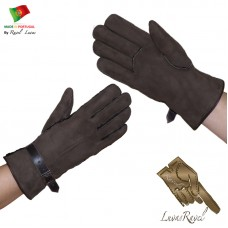 Men Shearling Sheepskin Gloves (HB42013)