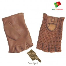 Handmade Leather Gloves With Crochet  (HCROCHET2014)