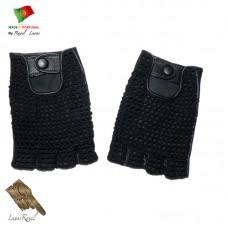 Handmade Leather Gloves With Crochet  (HCROCHET22014)
