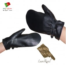 Leather Mittens (S232013)