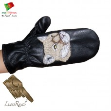 Leather Mittens (S262013)