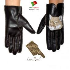 Ladies Leather Gloves (S82013)