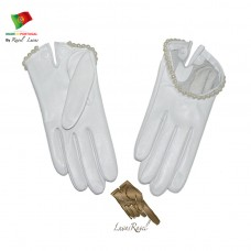 Ladies Leather Bridal Gloves (SNOIVA32014)