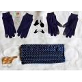 Set of Face Mask and Cotton Gloves, Reusable, Washable, With Touch (SETMASKGLOVEST2020)